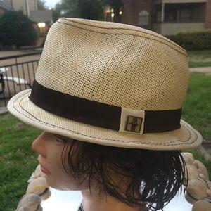 "Peter Grimm ""Stoli"" Unisex Woven Wicker Fedora Hat"
